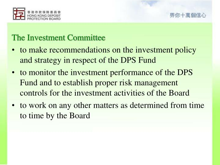 The Investment Committee