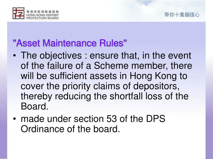 """Asset Maintenance Rules"""