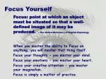 focus yourself
