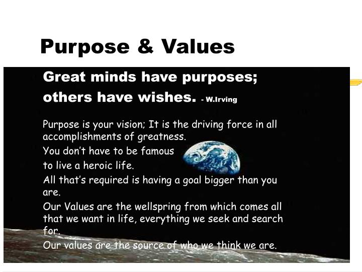 Purpose & Values