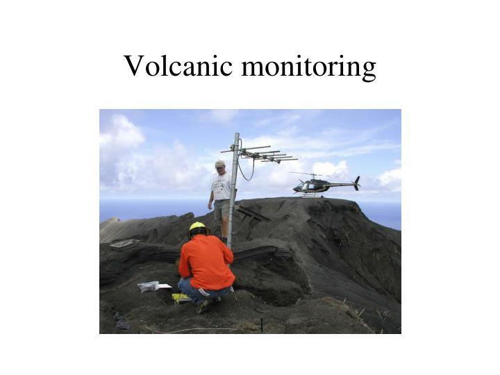 Volcanic monitoring
