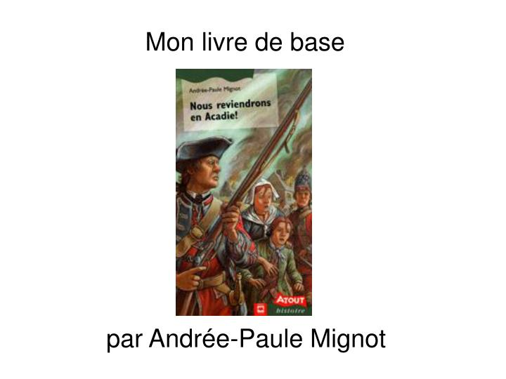 Mon livre de base
