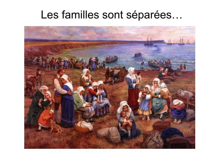 Les familles sont séparées…