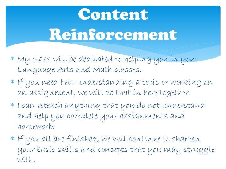 Content Reinforcement