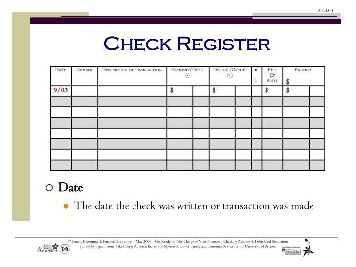 Check Register