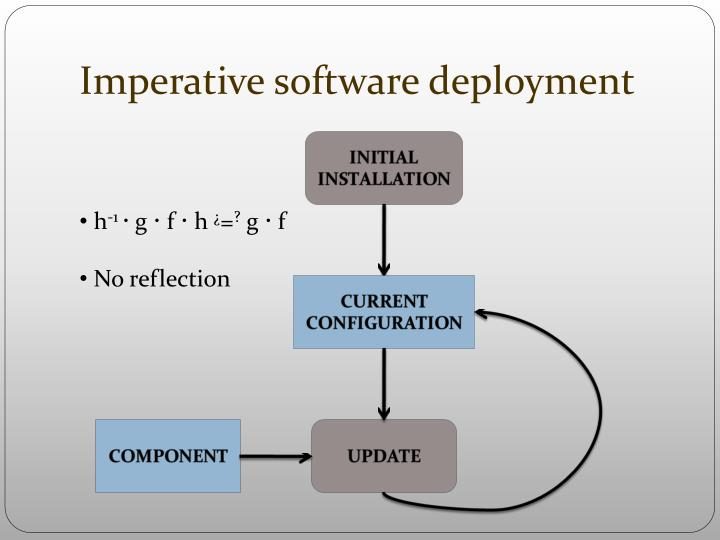 Imperative software deployment
