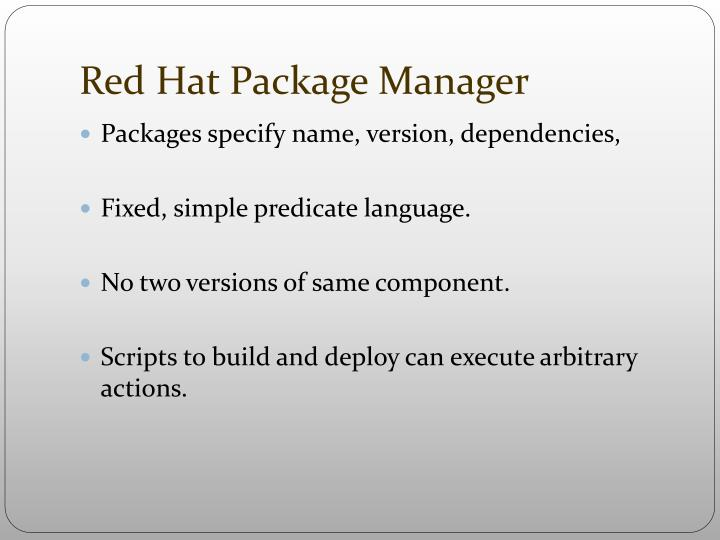 Red Hat Package Manager
