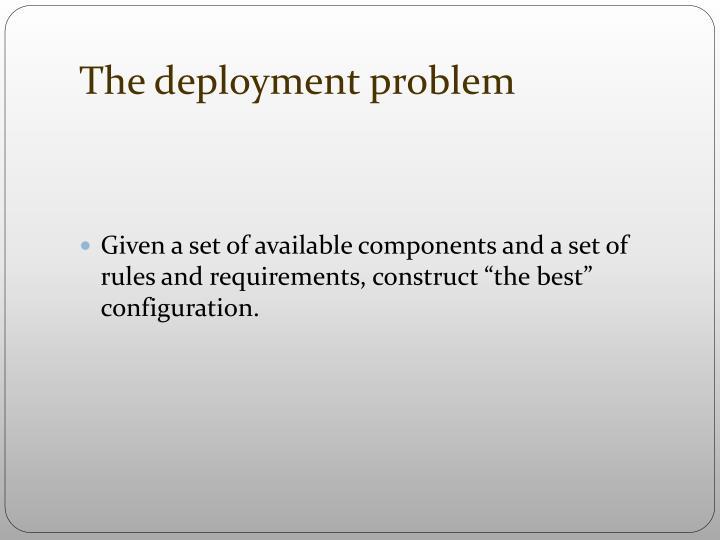 The deployment problem