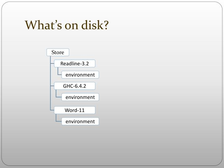 What's on disk?