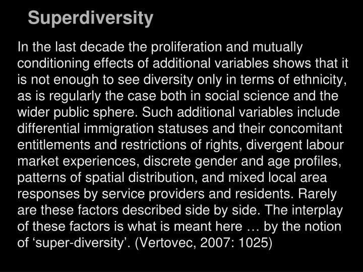 Superdiversity