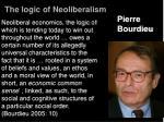 the logic of neoliberalism