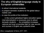 the why of english language study in european universities