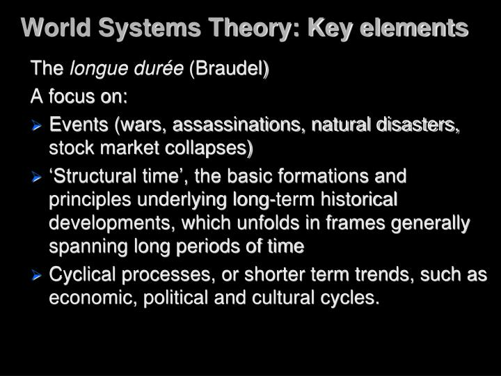 World Systems Theory: Key elements