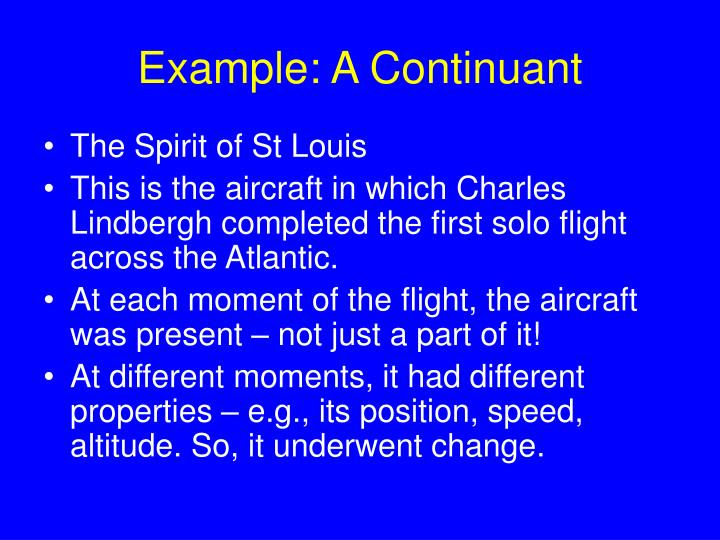 Example: A Continuant