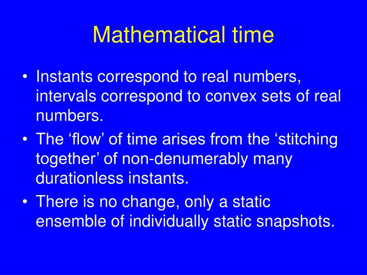 Mathematical time