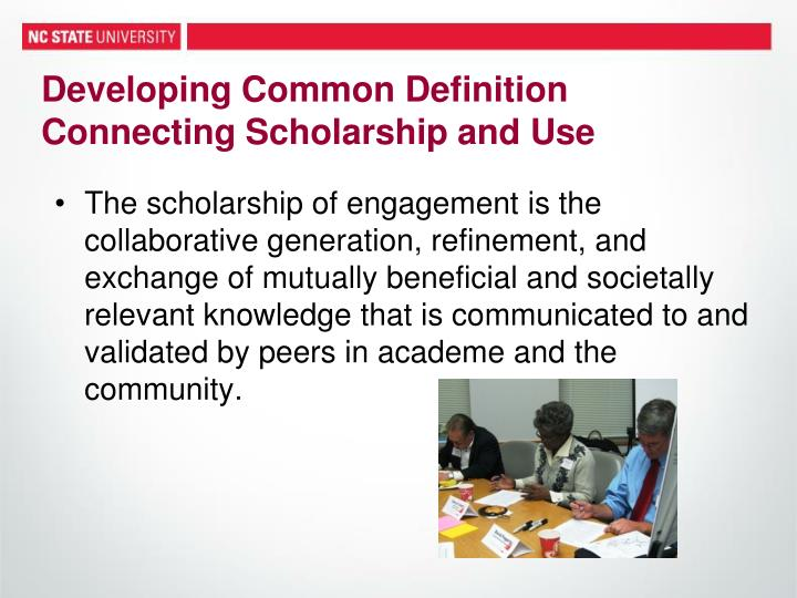Developing Common Definition Connecting Scholarship and Use