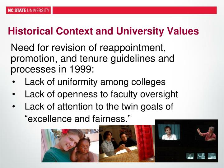 Historical Context and University Values
