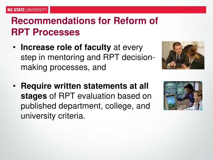 Recommendations for Reform of