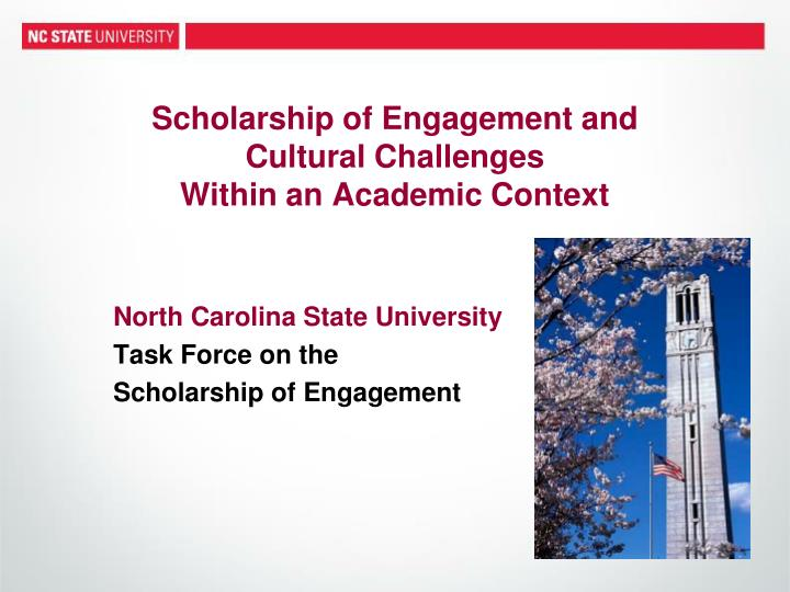 Scholarship of Engagement
