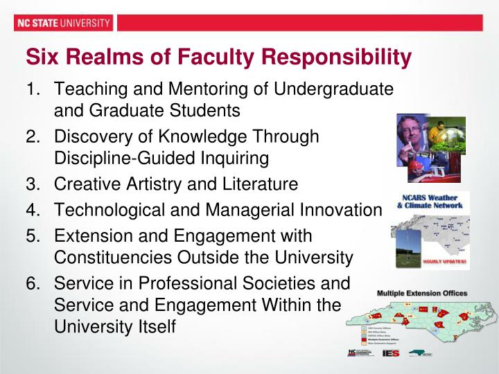Six Realms of Faculty Responsibility