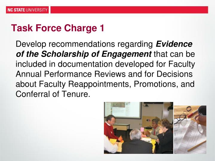 Task Force Charge 1