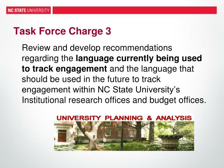 Task Force Charge 3