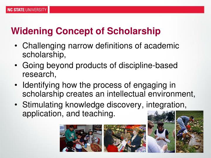 Widening Concept of Scholarship