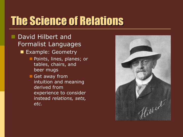 The Science of Relations