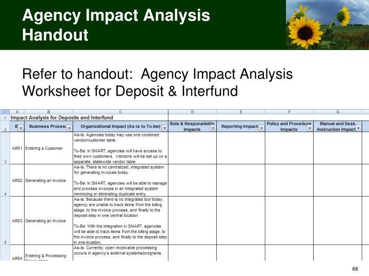 Agency Impact Analysis Handout