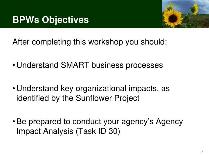 BPWs Objectives