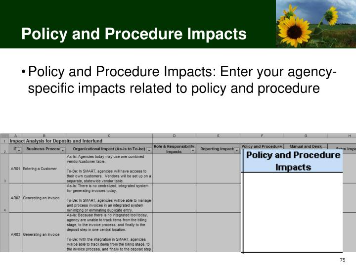 Policy and Procedure Impacts