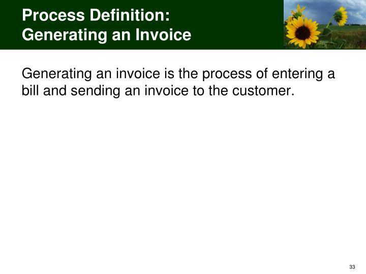 Process Definition: