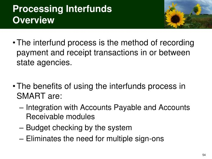 Processing Interfunds Overview