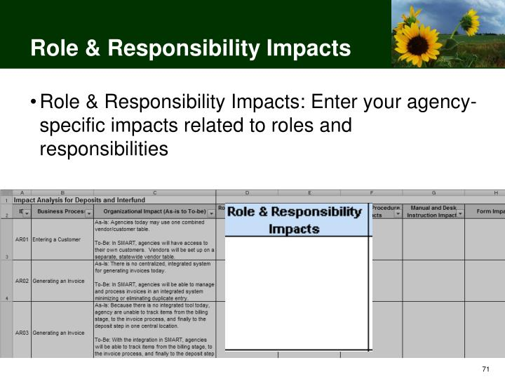 Role & Responsibility Impacts