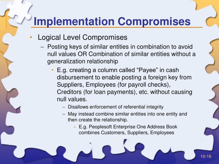 Implementation Compromises