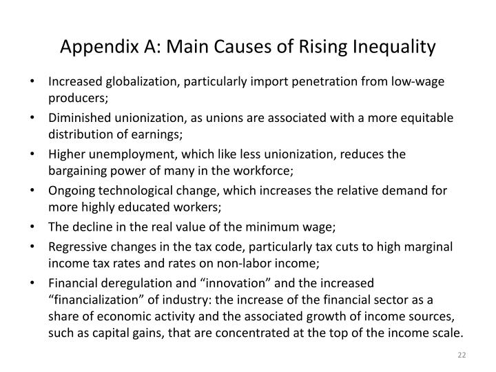 Appendix A: Main Causes of Rising Inequality