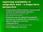 improving availability of emigration data a longer term perspective