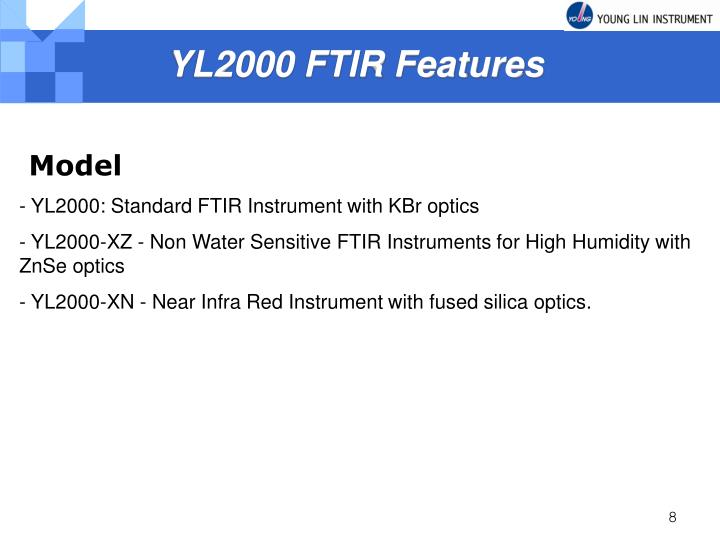 YL2000 FTIR Features