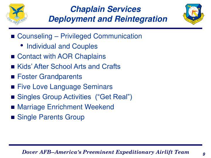 Chaplain Services