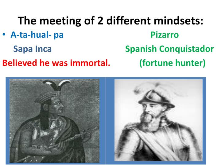 The meeting of 2 different mindsets: