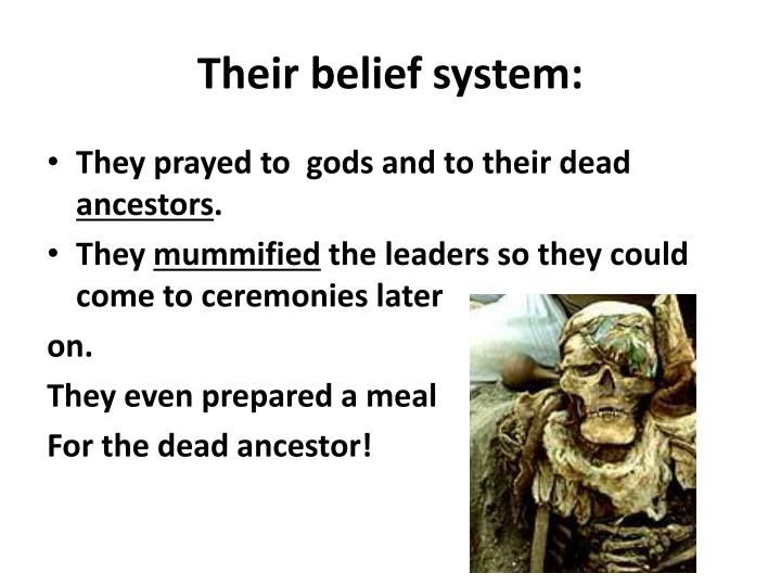 Their belief system: