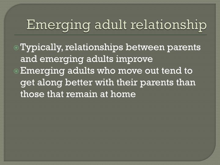 Emerging adult relationship