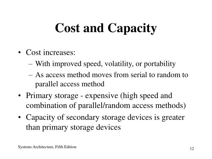 Cost and Capacity