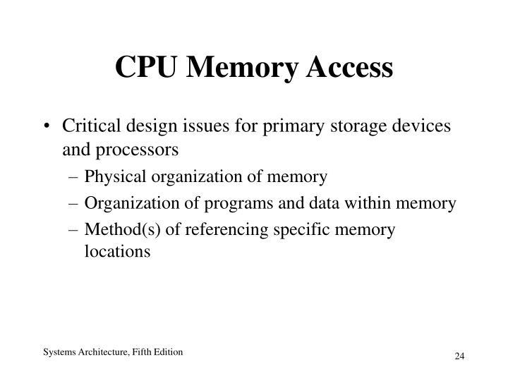 CPU Memory Access