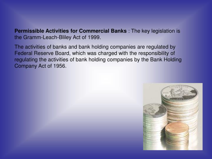 Permissible Activities for Commercial Banks
