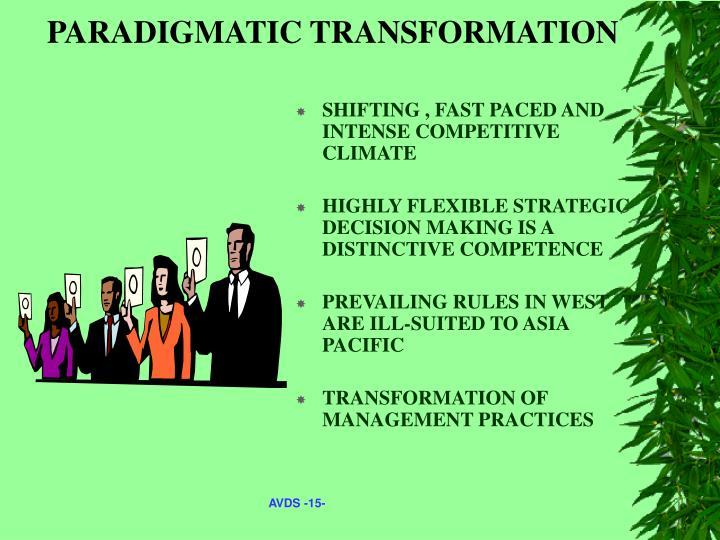 PARADIGMATIC TRANSFORMATION