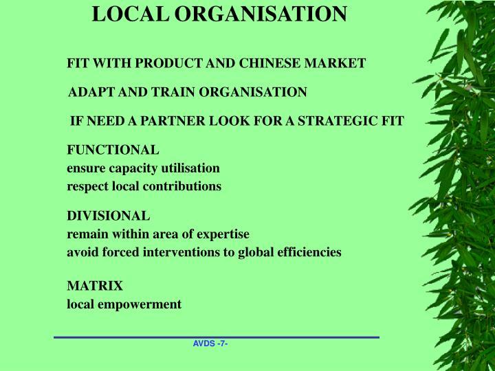 LOCAL ORGANISATION