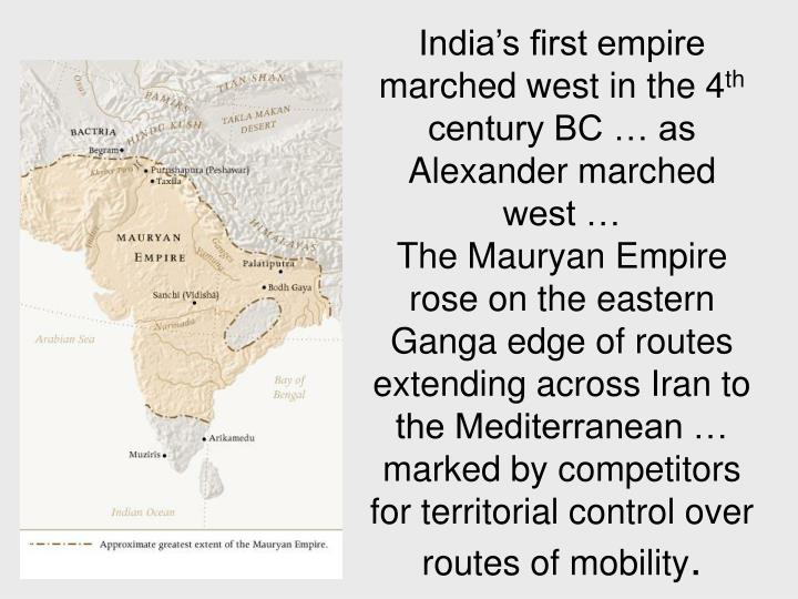India's first empire marched west in the 4