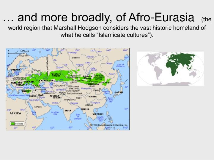 … and more broadly, of Afro-Eurasia