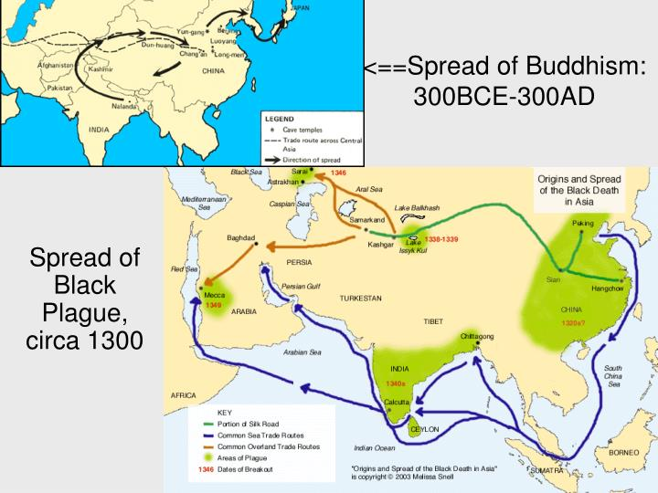 <==Spread of Buddhism: 300BCE-300AD